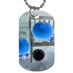 Pumpkins And Gourds Negative Dog Tag (Two Sides)