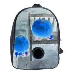 Pumpkins And Gourds Negative School Bags(Large)