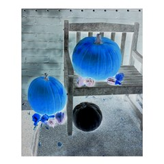 Pumpkins And Gourds Negative Shower Curtain 60  X 72  (medium)