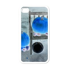 Pumpkins And Gourds Negative Apple iPhone 4 Case (White)