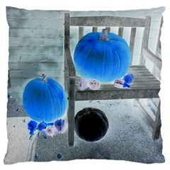 Pumpkins And Gourds Negative Large Cushion Case (Two Sides)