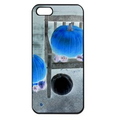 Pumpkins And Gourds Negative Apple iPhone 5 Seamless Case (Black)