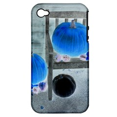 Pumpkins And Gourds Negative Apple iPhone 4/4S Hardshell Case (PC+Silicone)