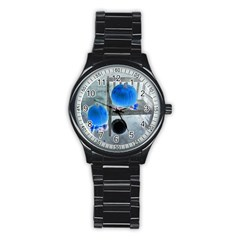 Pumpkins And Gourds Negative Stainless Steel Round Watch