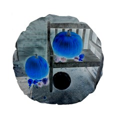 Pumpkins And Gourds Negative Standard 15  Premium Flano Round Cushions