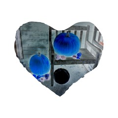 Pumpkins And Gourds Negative Standard 16  Premium Flano Heart Shape Cushions