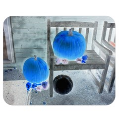Pumpkins And Gourds Negative Double Sided Flano Blanket (Medium)