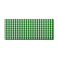 Christmas Green Velvet Large Gingham Check Plaid Pattern Cosmetic Storage Cases