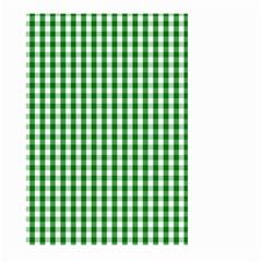 Christmas Green Velvet Large Gingham Check Plaid Pattern Large Garden Flag (Two Sides)