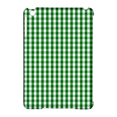 Christmas Green Velvet Large Gingham Check Plaid Pattern Apple iPad Mini Hardshell Case (Compatible with Smart Cover)