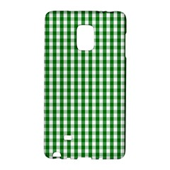 Christmas Green Velvet Large Gingham Check Plaid Pattern Galaxy Note Edge