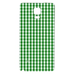 Christmas Green Velvet Large Gingham Check Plaid Pattern Galaxy Note 4 Back Case