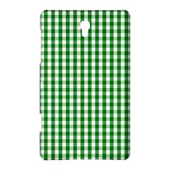 Christmas Green Velvet Large Gingham Check Plaid Pattern Samsung Galaxy Tab S (8.4 ) Hardshell Case