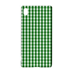 Christmas Green Velvet Large Gingham Check Plaid Pattern Sony Xperia Z3+
