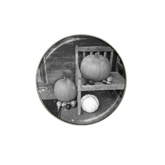 Pumpkind And Gourds Bw Hat Clip Ball Marker (4 pack)