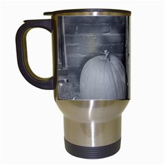Pumpkind And Gourds Bw Travel Mugs (White)