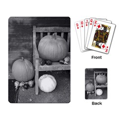 Pumpkind And Gourds Bw Playing Card