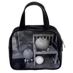 Pumpkind And Gourds Bw Classic Handbags (2 Sides)