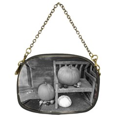 Pumpkind And Gourds Bw Chain Purses (Two Sides)