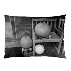 Pumpkind And Gourds Bw Pillow Case