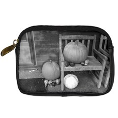 Pumpkind And Gourds Bw Digital Camera Cases