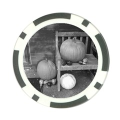 Pumpkind And Gourds Bw Poker Chip Card Guard (10 Pack)