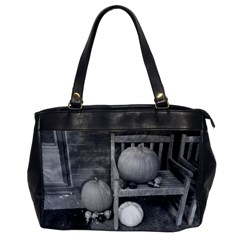 Pumpkind And Gourds Bw Office Handbags