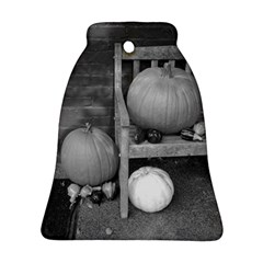 Pumpkind And Gourds Bw Bell Ornament (Two Sides)