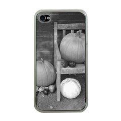 Pumpkind And Gourds Bw Apple iPhone 4 Case (Clear)