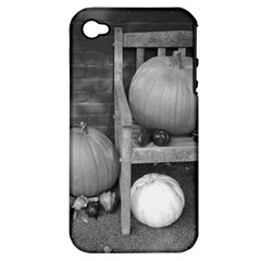 Pumpkind And Gourds Bw Apple iPhone 4/4S Hardshell Case (PC+Silicone)