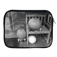 Pumpkind And Gourds Bw Apple iPad 2/3/4 Zipper Cases