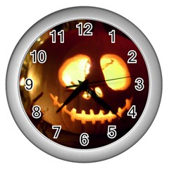 Pumkin Jack  Wall Clocks (Silver)