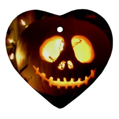 Pumkin Jack  Heart Ornament (two Sides)