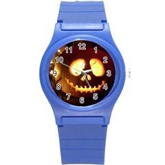 Pumkin Jack  Round Plastic Sport Watch (S)