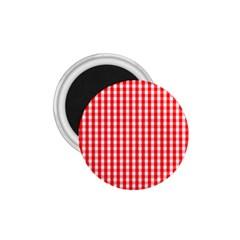 Christmas Red Velvet Large Gingham Check Plaid Pattern 1 75  Magnets
