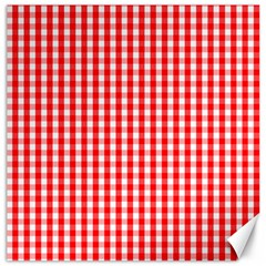 Christmas Red Velvet Large Gingham Check Plaid Pattern Canvas 16  x 16