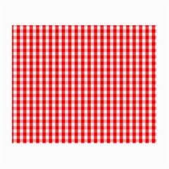 Christmas Red Velvet Large Gingham Check Plaid Pattern Small Glasses Cloth (2-Side)