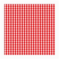 Christmas Red Velvet Large Gingham Check Plaid Pattern Medium Glasses Cloth
