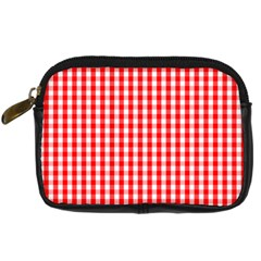 Christmas Red Velvet Large Gingham Check Plaid Pattern Digital Camera Cases