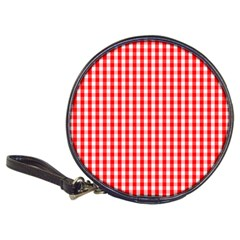 Christmas Red Velvet Large Gingham Check Plaid Pattern Classic 20-CD Wallets