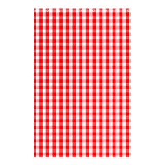 Christmas Red Velvet Large Gingham Check Plaid Pattern Shower Curtain 48  x 72  (Small)