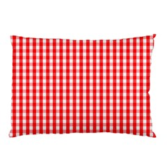 Christmas Red Velvet Large Gingham Check Plaid Pattern Pillow Case (Two Sides)