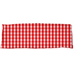 Christmas Red Velvet Large Gingham Check Plaid Pattern Body Pillow Case Dakimakura (Two Sides)