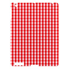 Christmas Red Velvet Large Gingham Check Plaid Pattern Apple iPad 3/4 Hardshell Case