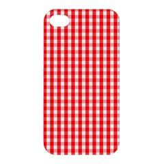 Christmas Red Velvet Large Gingham Check Plaid Pattern Apple iPhone 4/4S Premium Hardshell Case