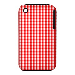 Christmas Red Velvet Large Gingham Check Plaid Pattern iPhone 3S/3GS
