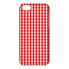 Christmas Red Velvet Large Gingham Check Plaid Pattern Apple iPhone 5C Hardshell Case