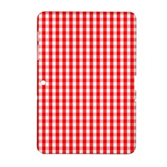 Christmas Red Velvet Large Gingham Check Plaid Pattern Samsung Galaxy Tab 2 (10.1 ) P5100 Hardshell Case
