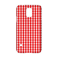 Christmas Red Velvet Large Gingham Check Plaid Pattern Samsung Galaxy S5 Hardshell Case