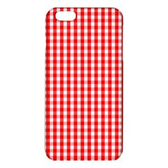 Christmas Red Velvet Large Gingham Check Plaid Pattern iPhone 6 Plus/6S Plus TPU Case